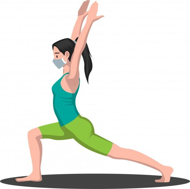 woman-did-some-yoga-pose-while-using-medical-mask-illustration_209620-202