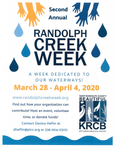 Randolph Creek Week March 28 to April 4, 2020 Opens in new window