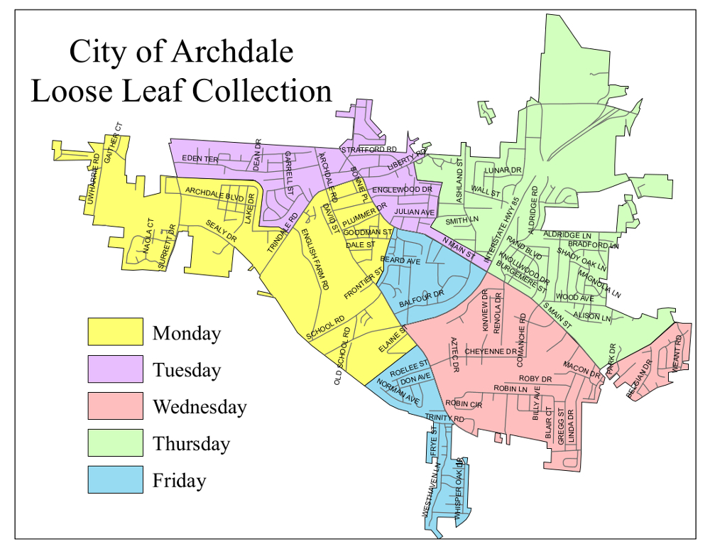 Loose Leaf Collection Map