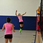 Person playing volleyball
