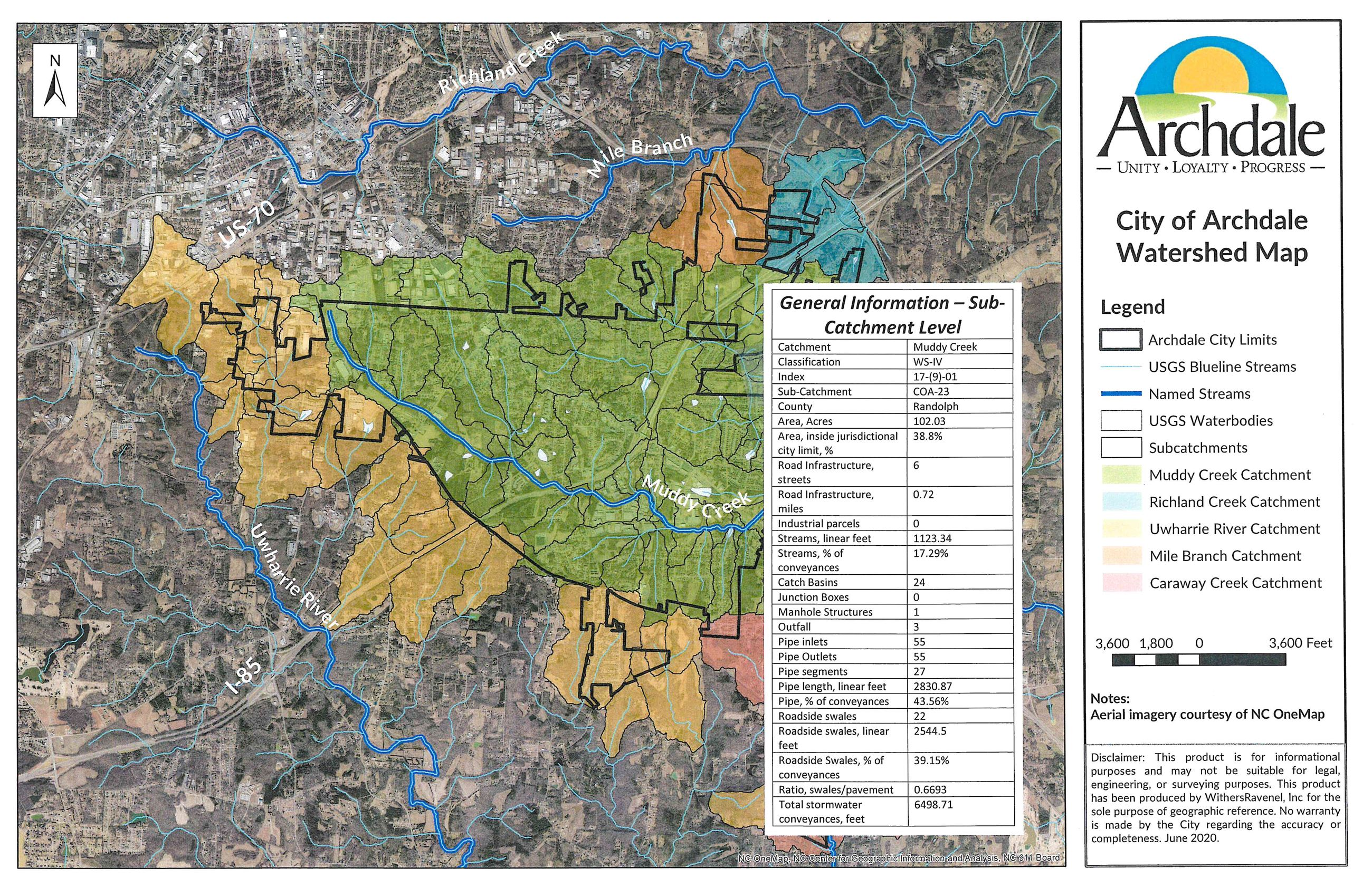 COA Watershed Map - Sub Catchment Level